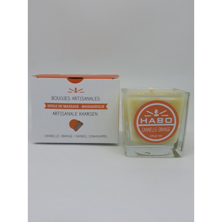 Bougie de massage Cannelle Orange